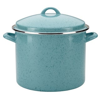 Paula Deen(r) Signature Enamel on Steel 12-Quart Stockpot, Aqua