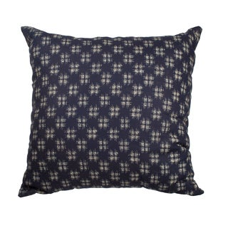 """Navy """"HashTag"""" Down-Alternative Filled 18-inch Throw Pillow"""