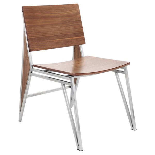 LumiSource Tetra Stainless Steel Dining Chairs (Set of 2)