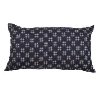 "Navy ""HashTag"" 12x20-inch Down-Alternative Throw Pillow"