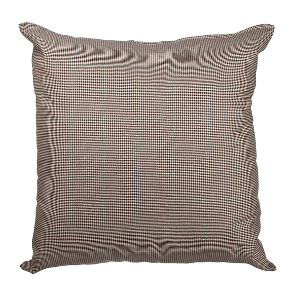 Brown Glen Plaid Prince of Wales Check 18-inch Throw Pillow