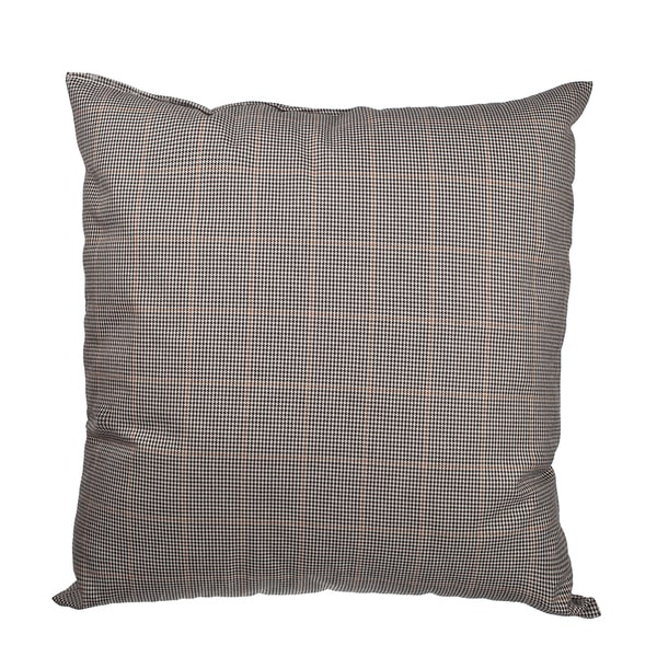 Black Glen Plaid Prince of Wales Check 18-inch Throw Pillow