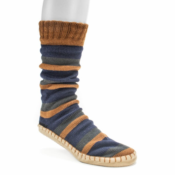 Muk Luks Men's Dark Blue Slipper Socks