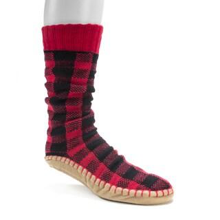 Muk Luks Men's Red Slipper Socks
