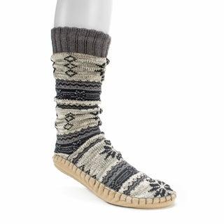 Muk Luks Men's Steel Grey Slipper Socks