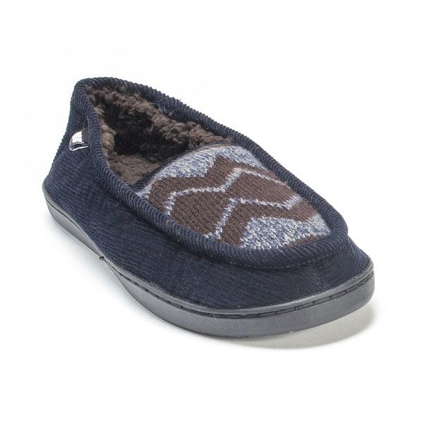 Muk Luks Men's Navy Henry Slippers