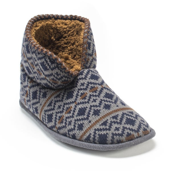 Muk Luks Men's Navy Mark Slippers