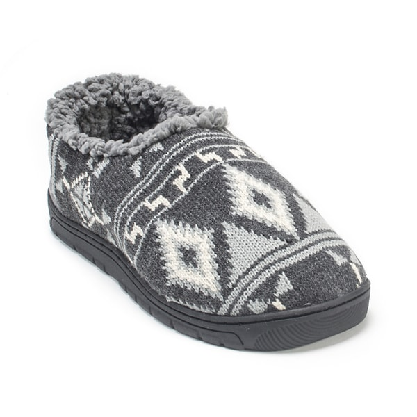 Muk Luks Men's Medium Grey John Slippers