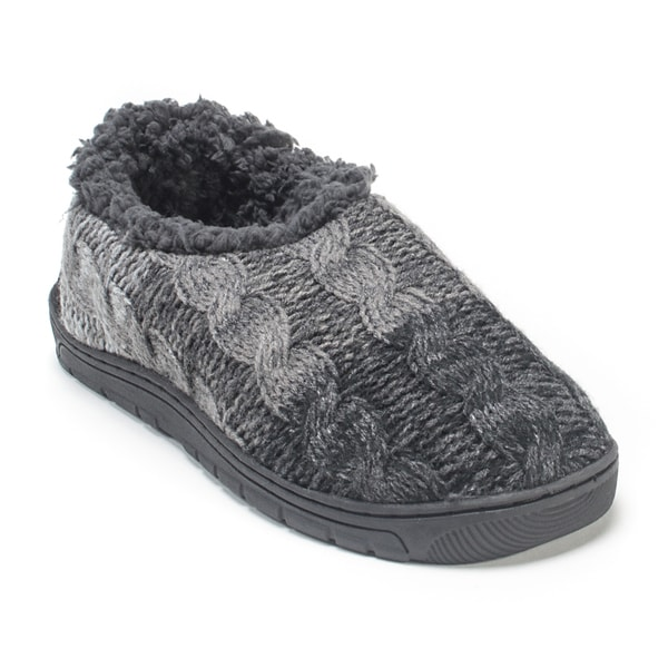 Muk Luks Men's Charcoal Grey John Slippers