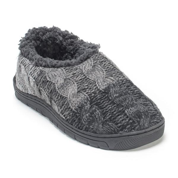Muk Luks Men's Charcoal Grey John Slippers