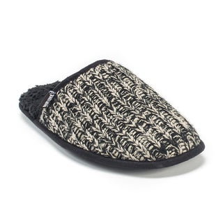 Muk Luks Men's Black Gavin Slippers