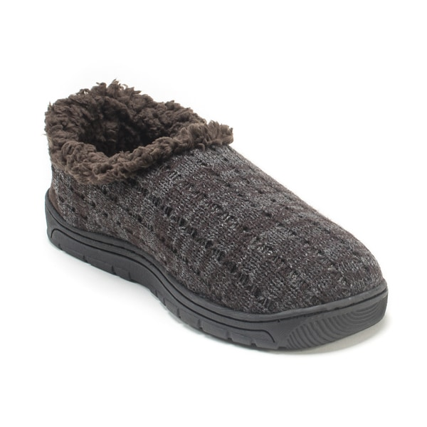 Muk Luks Men's Dark Brown John Slippers