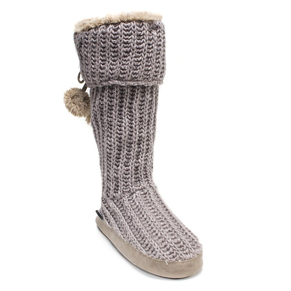 Muk Luks Women's Purple Knit Winona Slipper
