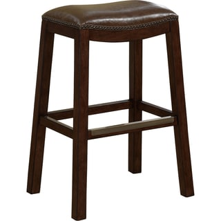 Sonoma Italian Leather And Alder Wood Barstool 14987054