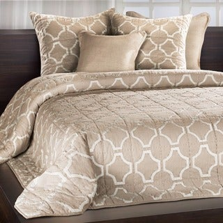 Francheschi Sand Silk Applique Quilt with Embroidered Edge