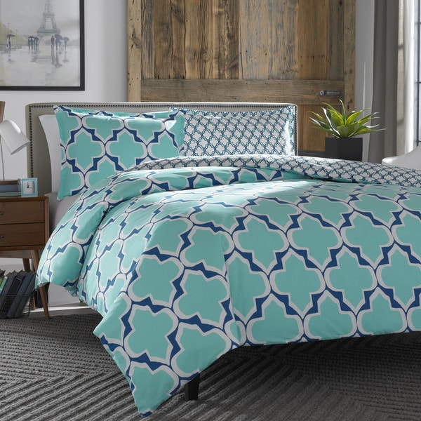 City Scene Brodie Teal Duvet Cover Set
