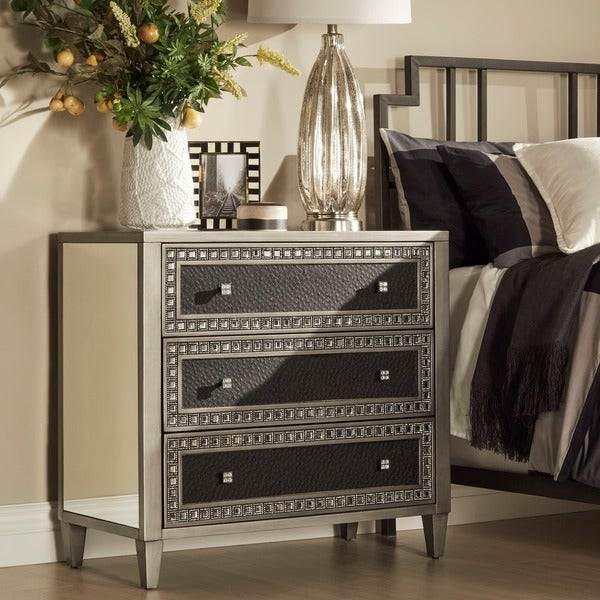 Oslo Black Mirrored 3-drawer Sideboard Cabinet