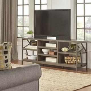 TRIBECCA HOME Lincoln Metal Accent Storage Media Console Sofa Table TV Stand
