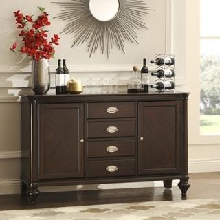 TRIBECCA HOME LaSalle Dark Cherry 4-drawer 2-cabinet Buffet Server