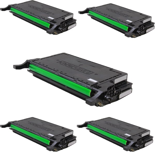 Samsung CLT-K660A Compatible Toner Cartridge For CLX-6200FX CLX-6210FX CLX-6240FX CLP-610ND CLP-660ND (Pack of 5)