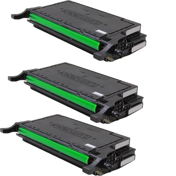 Samsung CLT-K660A Compatible Toner Cartridge For CLX-6200FX CLX-6210FX CLX-6240FX CLP-610ND CLP-660ND (Pack of 3)