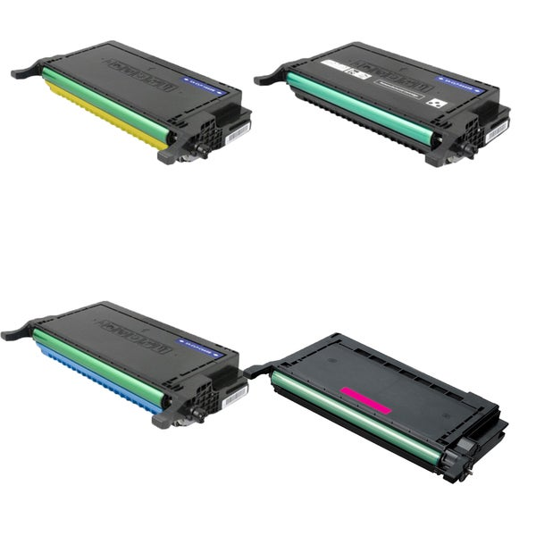 Samsung CLP-K600A CLP-M600A CLP-Y600A CLP-C600A Compatible Toner Cartridge For CLP-600 CLP-600N (Pack of 4)