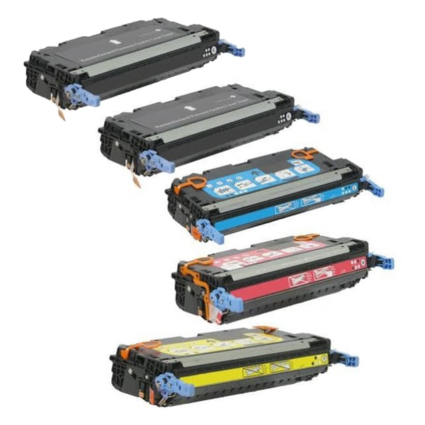 HP Q6470A Q6471A Q6472A Q6473A Toner 2 Black 1 Cyan 1 Magenta 1 Yellow Compatible Toner Cartridge 3600 3600dn (Pack of 5)