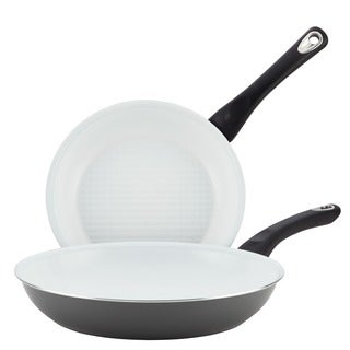 Farberware PURECOOK Grey Ceramic Nonstick Cookware Twin Pack Skillets