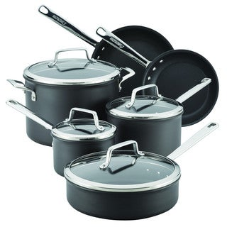 Anolon Authority Hard-anodized Grey Nonstick 10-piece Cookware Set