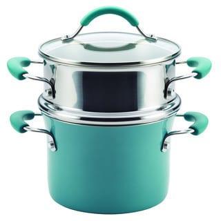 Rachael Ray Cucina Hard Enamel Nonstick 3-quart Covered Multi-pot Set with Steamer