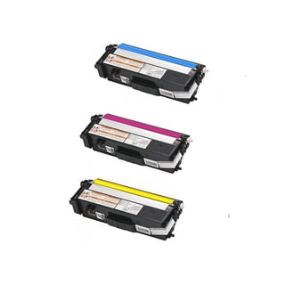 Compatible Brother TN315/ HL-4570CDWT/ MFC-9460CDN/ MFC-9560CDW/ MFC-9970CDW Cyan, Yellow, Magenta Toner Cartridges (Pack of 3)