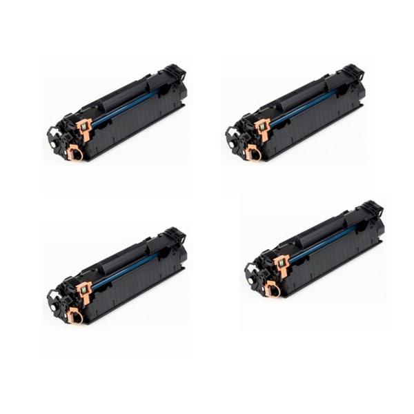Canon 125 (3484B001AA) Black Toner Cartridge For Canon ImageClass LBP6000 LBP6300d (Pack of 4)