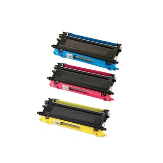 Compatible Brother TN115/ DCP-9040/ HL-4040/ HL-4050/ HL-4070/ MFC-9440 Cyan, Yellow, Magenta Toner Cartridges (Pack of 3)