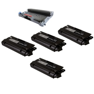 Brother DR620 and TN650 Toner Cartridge DCP-8080 DCP-8085 HL-5340 HL-5370 MFC-8480 MFC-8890 (Pack of 5)