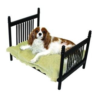 Textured Black Iron Slat Design Pet Bed
