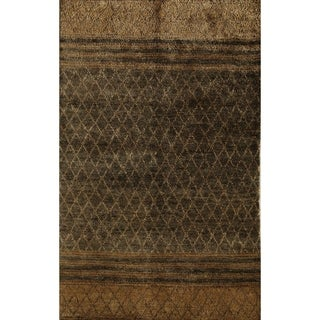 Hand-knotted Morocco Gravel Area Rug (7' x 9')
