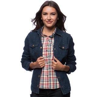 Split Collar Zip Pocket Jean Jacket