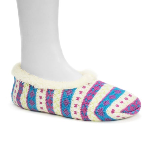 Muk Luks Women's Pink Ballerina Slippers