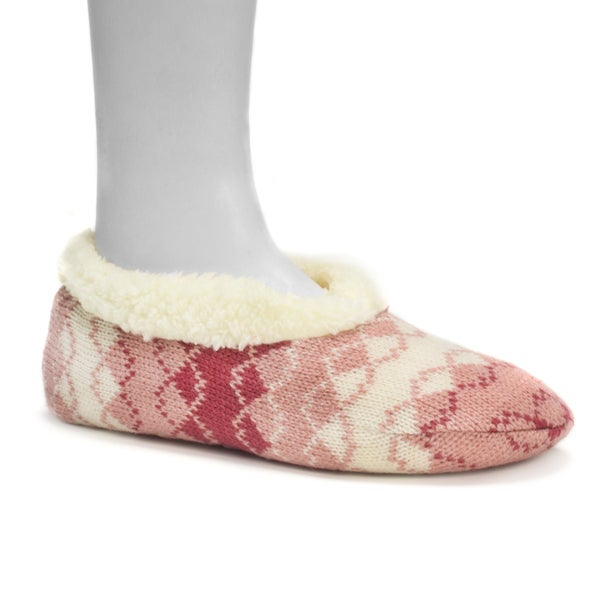 Muk Luks Women's Peach Ballerina Slippers