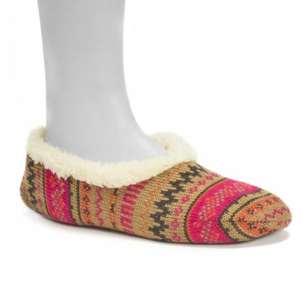 Muk Luks Women's Dark Pink Ballerina Slippers