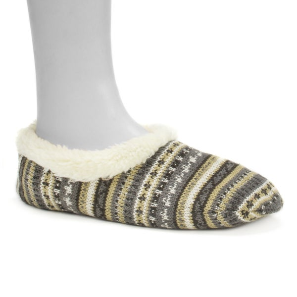 Muk Luks Women's Medium Grey Ballerina Slippers
