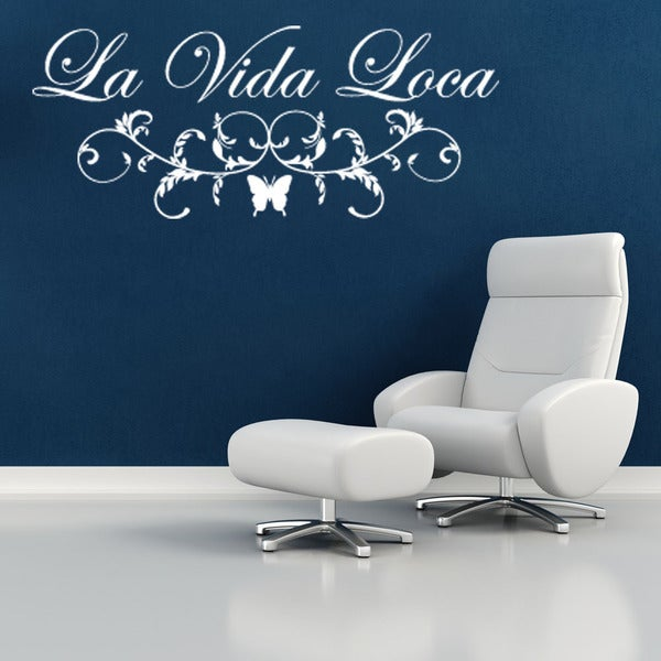 La Vida Loca Quote Phrases Wall Decal