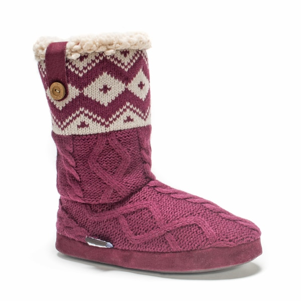 Muk Luks Women's Dark Red Arden Slipper