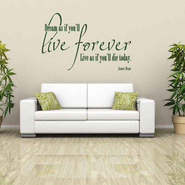 Live Forever Quote Phrases Wall Decal