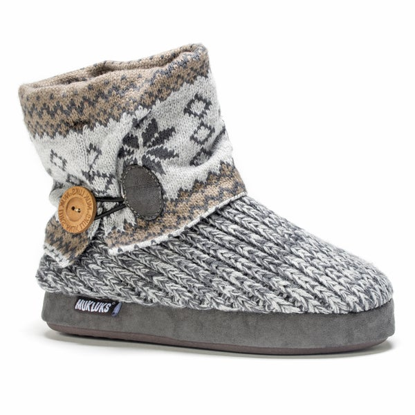 Muk Luks Women's Light Grey Patti Slipper