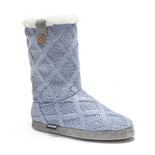 Muk Luks Women's Light Blue Arden Slipper