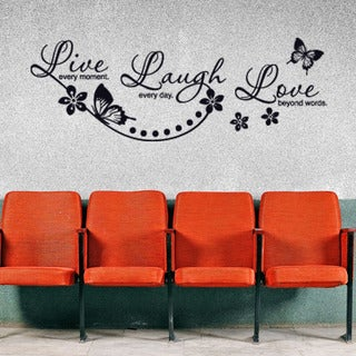 Live Laugh Love Quote Phrases Wall Decal