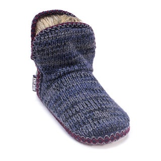 Muk Luks Women's Dark Blue Amira Slipper