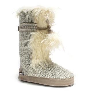 Muk Luks Women's Winter White Jewel Slipper