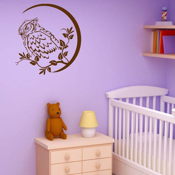 Wise Owl Animal Vinyl Wall Art